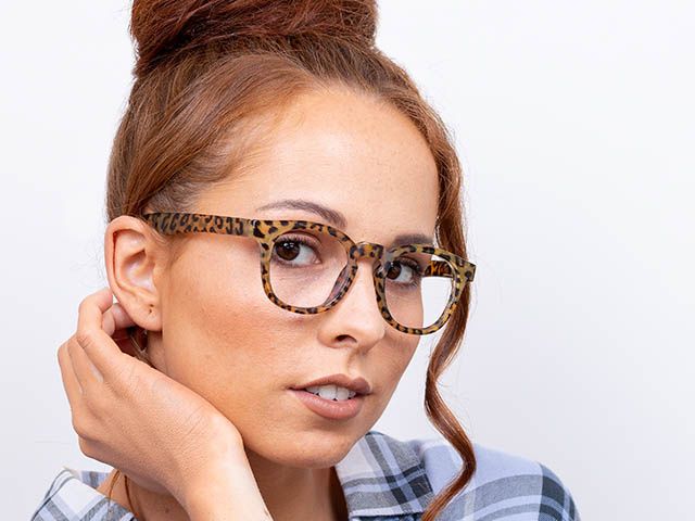 Reading Glasses 'Kitty' Brown Leopard