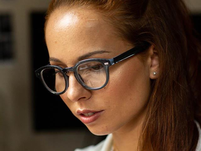 Reading Glasses 'Nico' Metallic Grey