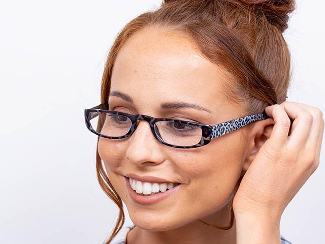 Reading Glasses 'Lexi' Grey Leopard