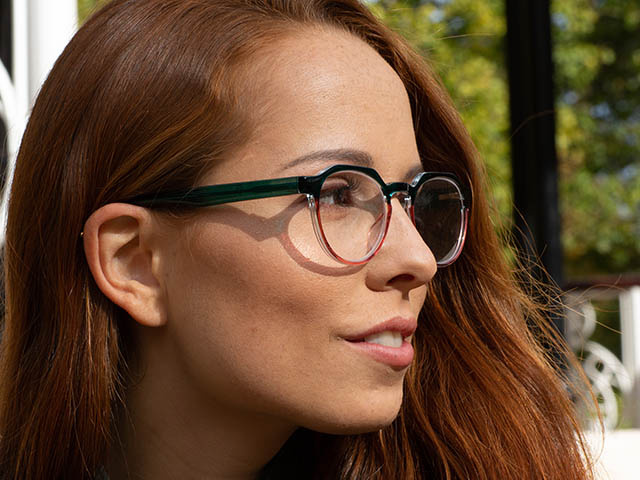 Reading Glasses 'South Bank' Turquoise/Pink
