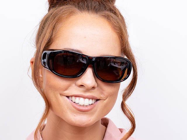 Sunglasses 'Coverspecs' Tortoiseshell