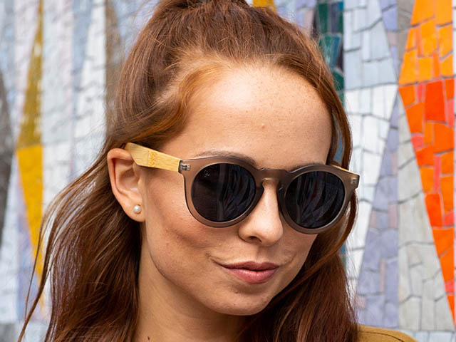 Sunglasses Polarised 'Kennedy' Matt Grey/Bamboo
