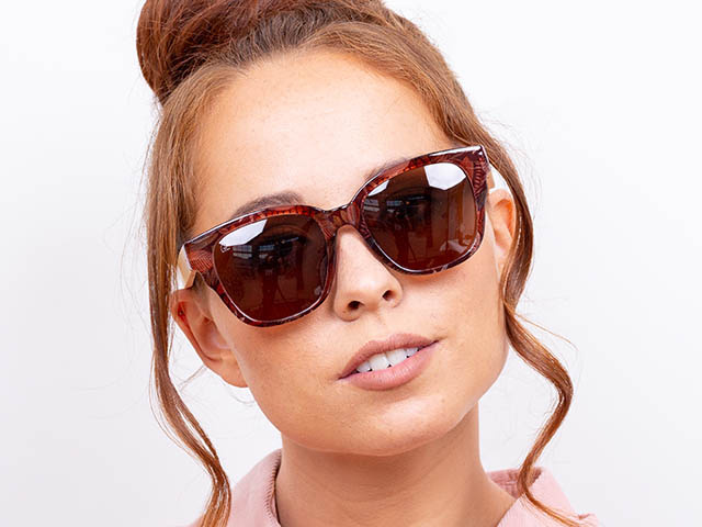 Sunglasses Polarised 'Carmen' Brown Multi/Bamboo