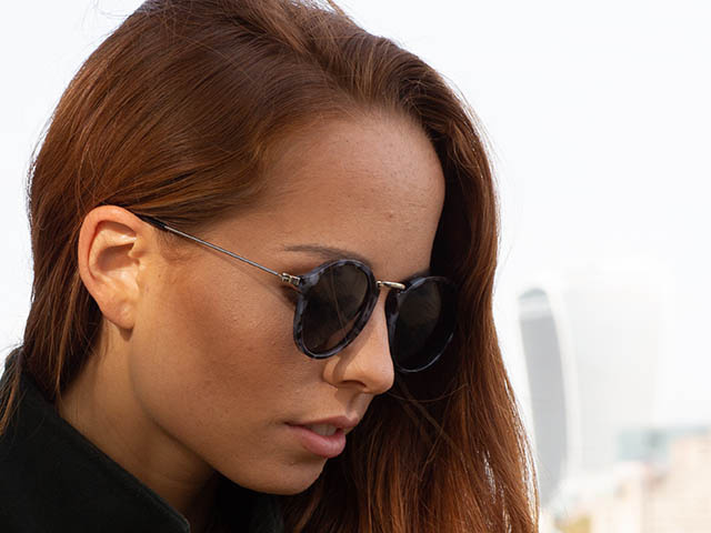 Sunglasses Polarised 'Ealing' Grey Tortoiseshell