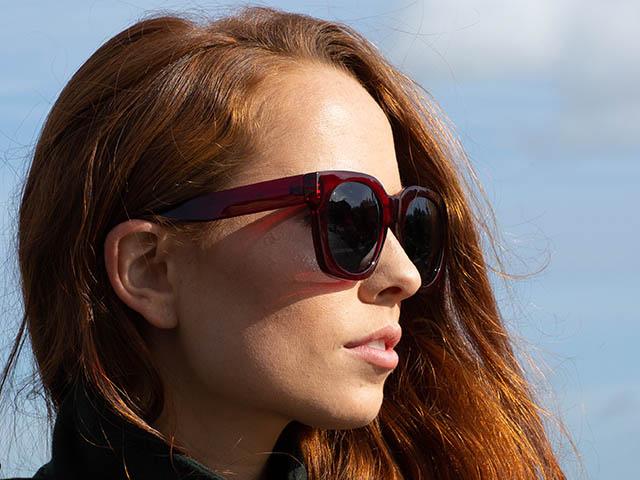 Sunglasses Polarised 'Riviera' Red