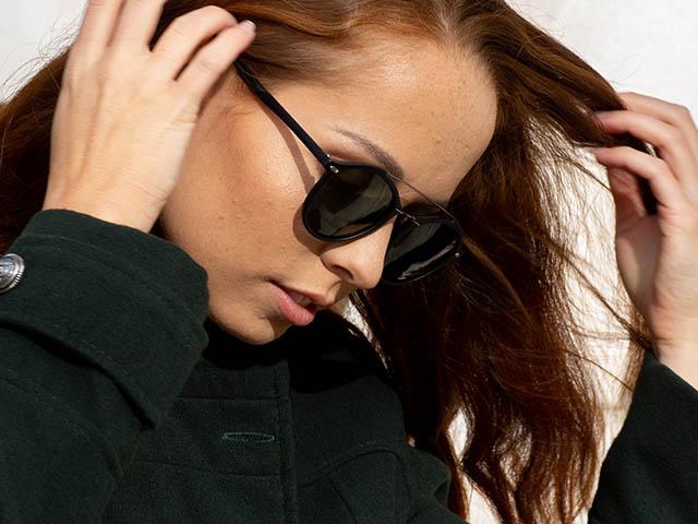 Sunglasses Polarised 'Langley' Matt Black