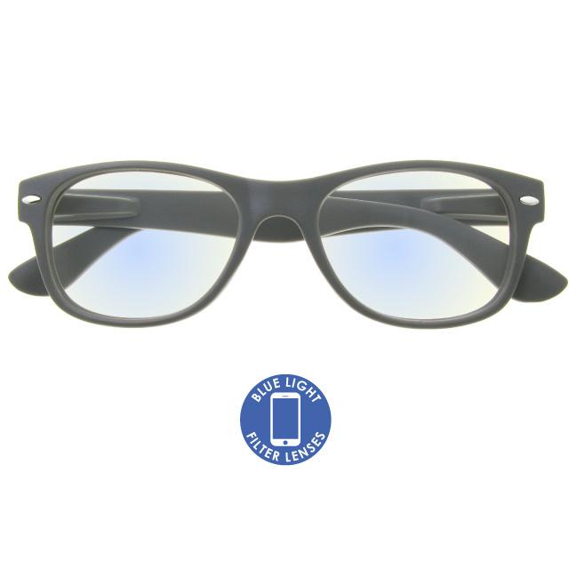 Blue Light Reading Glasses 'Billi' Matt Grey