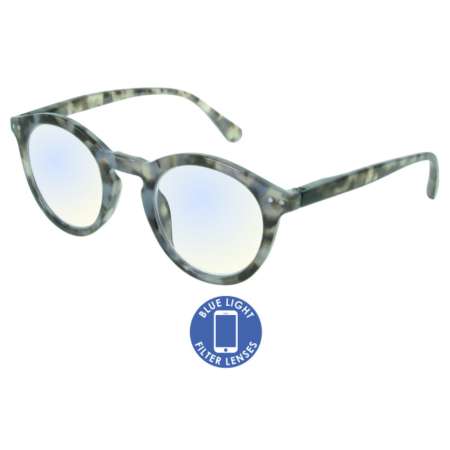 Blue Light Reading Glasses 'Embankment' Grey Tortoiseshell