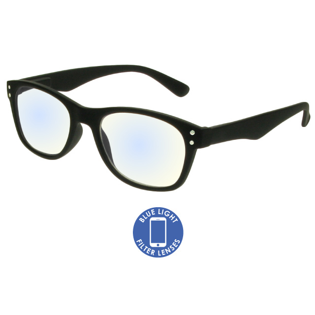 Blue Light Reading Glasses 'ScreenSpecs' Black