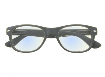 Goodlookers Blue Light Reading Glasses 'Billi' Matt Grey Front View