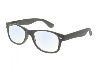 Goodlookers Blue Light Reading Glasses 'Billi' Matt Grey Side View