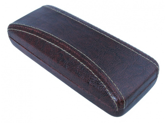 Aged Leather Look Stitched Brown