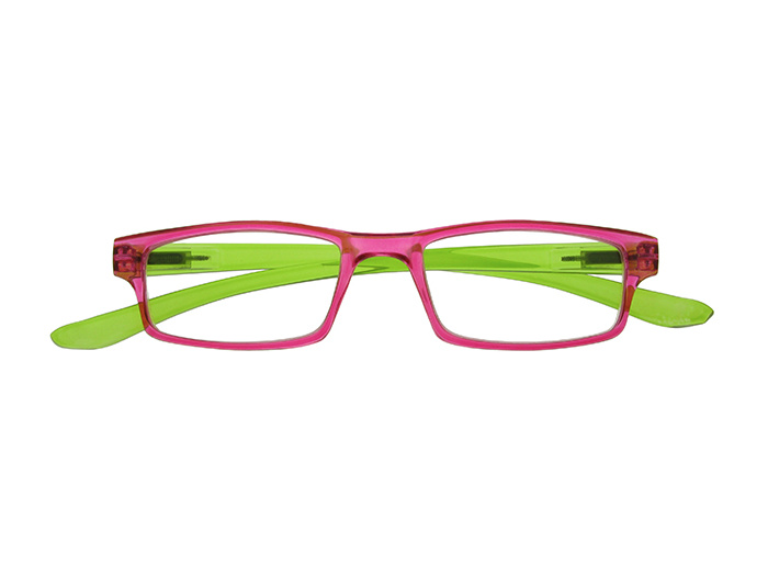 Reading Glasses 'Neck Specs' Fuscia/Green
