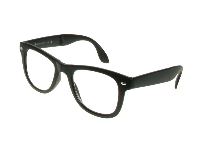 Folding Reading Glasses 'Pocket Specs' Matt Black