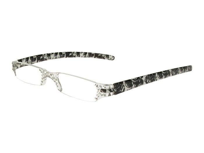 Reading Glasses 'Quartet' Black/White Floral