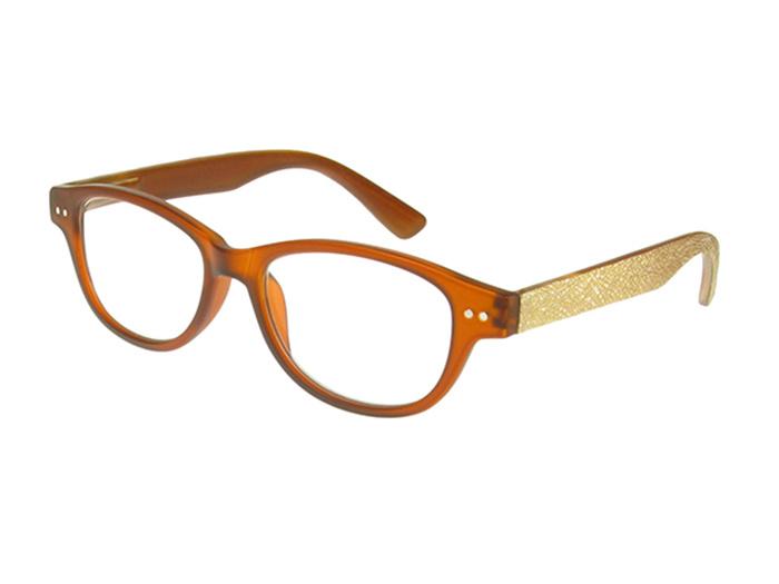 Reading Glasses 'Rene' Light Brown