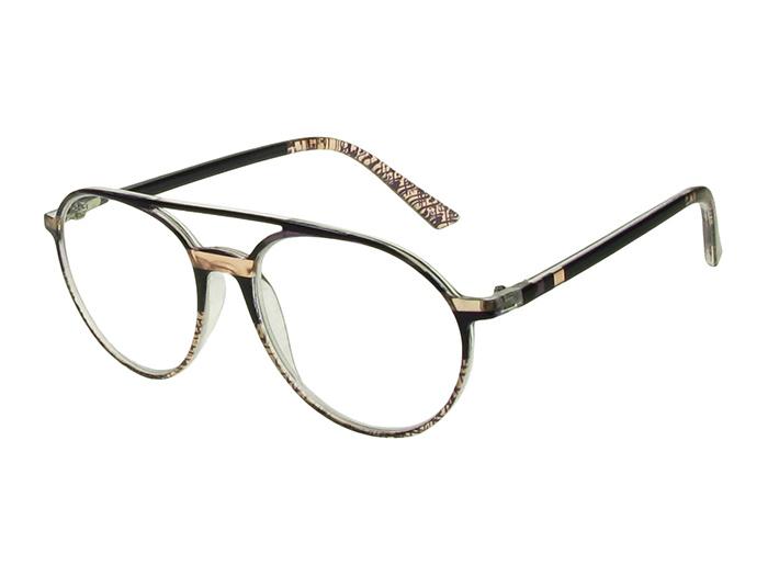Reading Glasses 'Boston' Black/Salmon