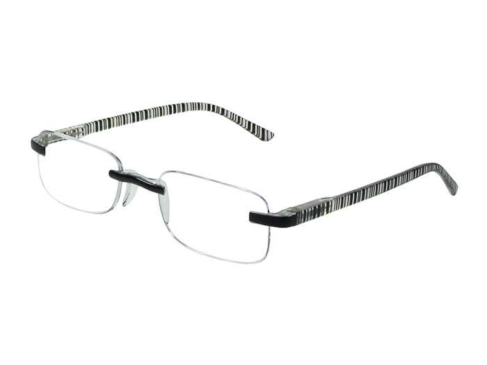Reading Glasses 'Helsinki' Black Stripe