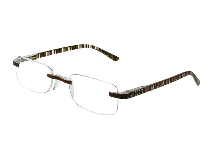 Reading Glasses 'Helsinki' Brown Stripe