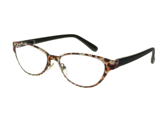 Reading Glasses 'Wilma' Brown Leopard
