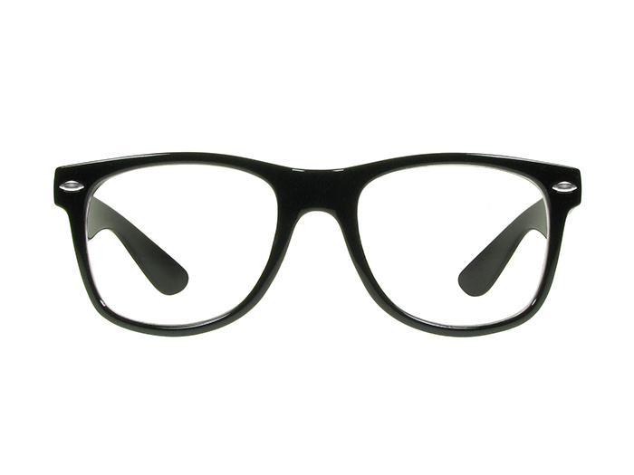 Reading Glasses 'Billi Big' Shiny Black