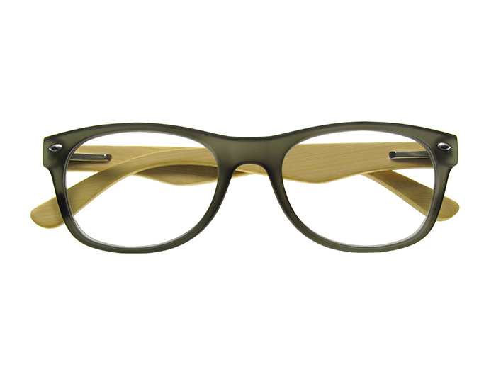 Natural Bamboo Readers 'Oakland' Grey