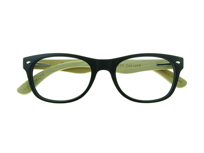 Natural Bamboo Readers 'Oakland' Matt Black