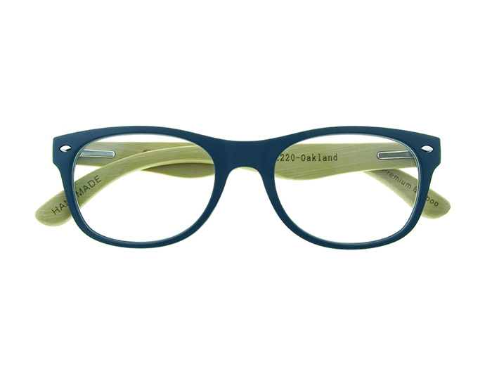 Natural Bamboo Readers 'Oakland' Matt Blue