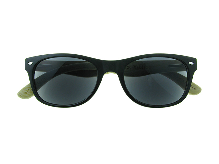 Natural Bamboo Sun Readers 'Oakland' Matt Black