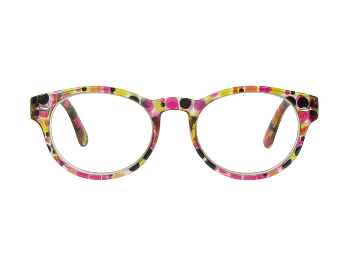Reading Glasses 'Zest' Red/Black Multi