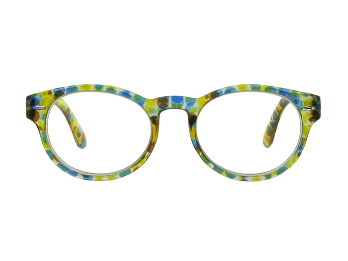 Reading Glasses 'Zest' Yellow/Blue Multi