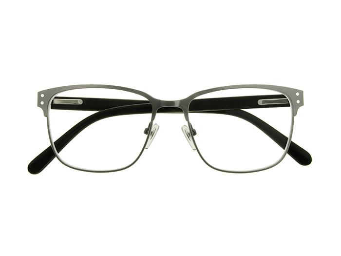 Reading Glasses 'Freddie' Gun Metal/Black