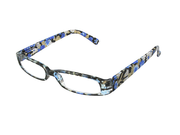 Reading Glasses 'Bette' Blue Floral