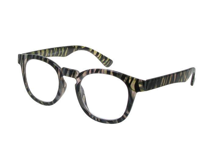 Reading Glasses 'Kitty' Grey Zebra