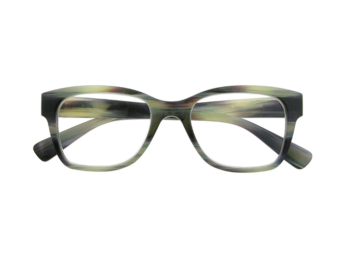 Reading Glasses 'West' Grey Stripe
