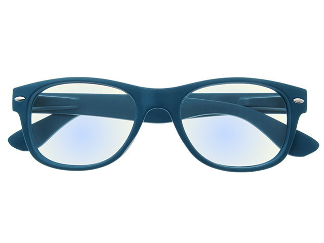 Blue Light Reading Glasses 'Billi' Matt Blue