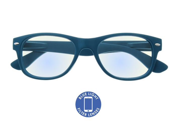 Blue Light Reading Glasses 'Billi' Matt Blue