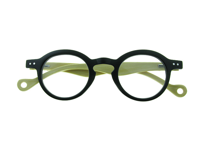 Natural Bamboo Readers 'Clarke' Matt Black