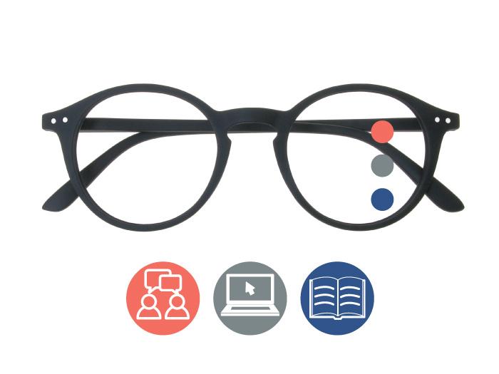 Progressive Reading Glasses 'Sydney Multi-Focus' Black