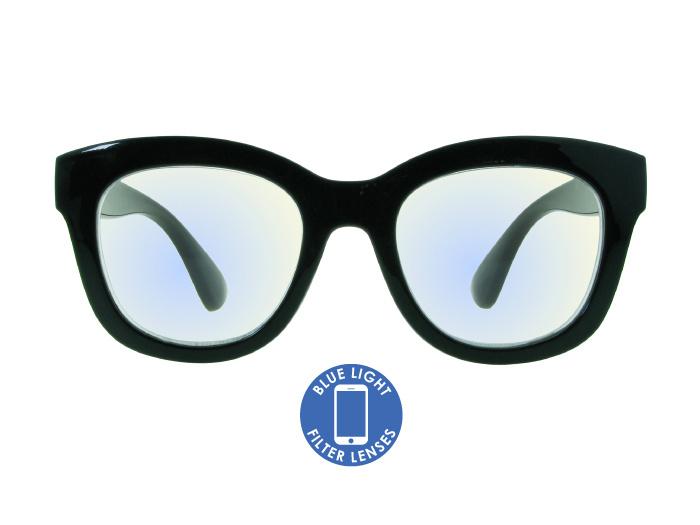 Blue Light Reading Glasses 'Encore' Shiny Black