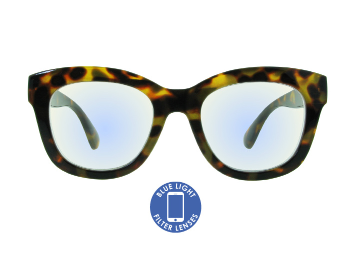 Blue Light Non-Prescription Glasses 'Encore' Tortoiseshell