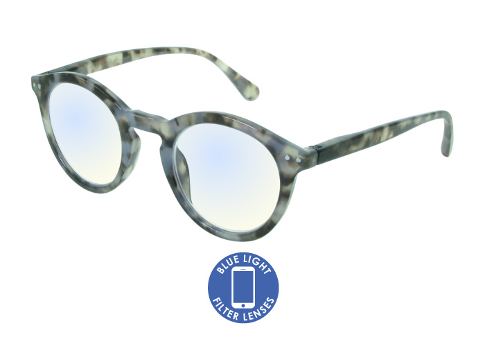 Blue Light Non-Prescription Glasses 'Embankment' Grey Tortoiseshell