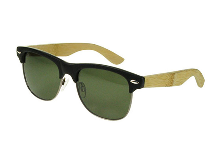 Sunglasses Polarised 'Morgan' Matt Black/Bamboo