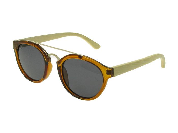 Sunglasses Polarised 'Tokyo' Brown/Bamboo