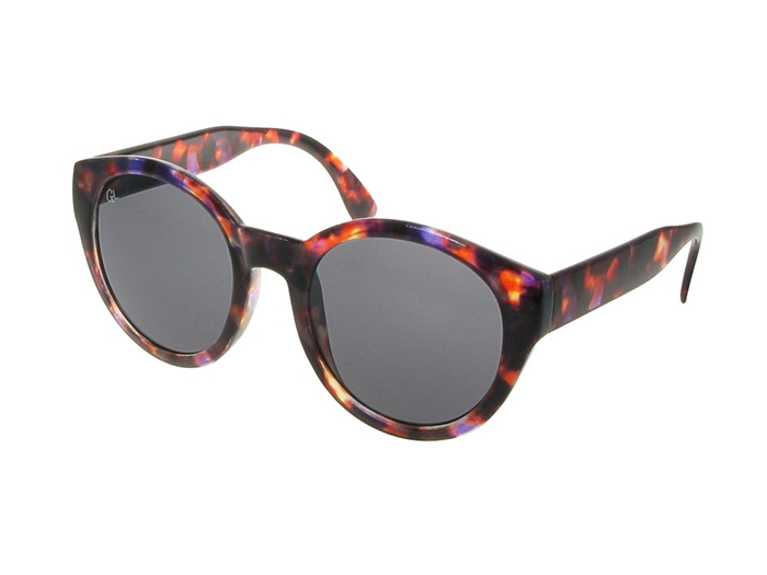 Sunglasses Polarised 'Dani' Purple Tortoiseshell