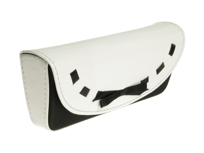 Glasses Case 'Bow Design' White