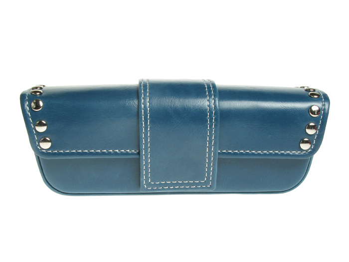 Glasses Case 'Stud Design' Blue