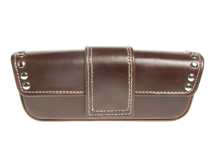 Glasses Case 'Stud Design' Brown