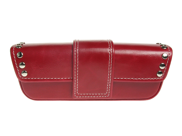 Glasses Case 'Stud Design' Red