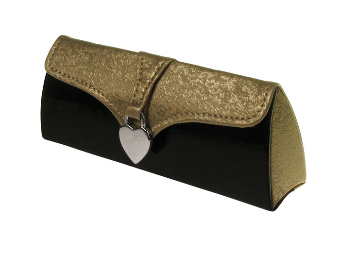 Glasses Case 'Silver Heart' Gold